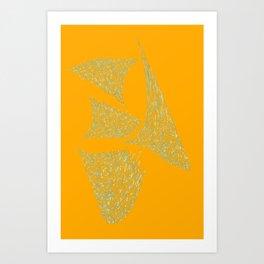 Splats Art Print