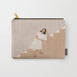 Girl Thinking on a Stairway Carry-All Pouch