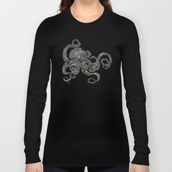 Barnacle Octopus in Black Long Sleeve T-shirt