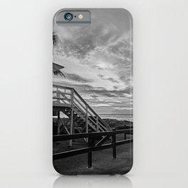 Sunset on lifeguard tower  iPhone Case