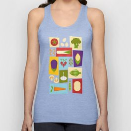 Farm to Table_pattern Unisex Tank Top