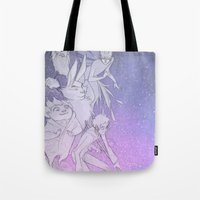 guardians Tote Bags featuring The Guardians by Red Red Telephone