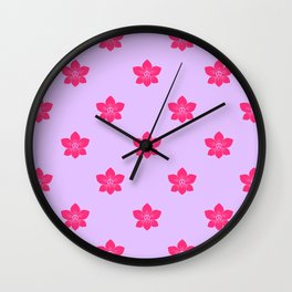 Pink orchid pattern Wall Clock