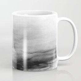 WHITE & BLACK TOUCHING #1 #abstract #decor #art #society6 Coffee Mug