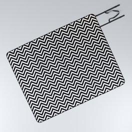 Black and White Chevron Picnic Blanket