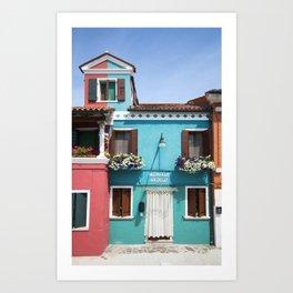 Burano House Art Print