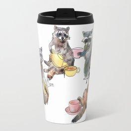 Racoon Tea Party Travel Mug