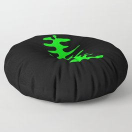 leaf in the style of Matisse 3 Green and black Floor Pillow