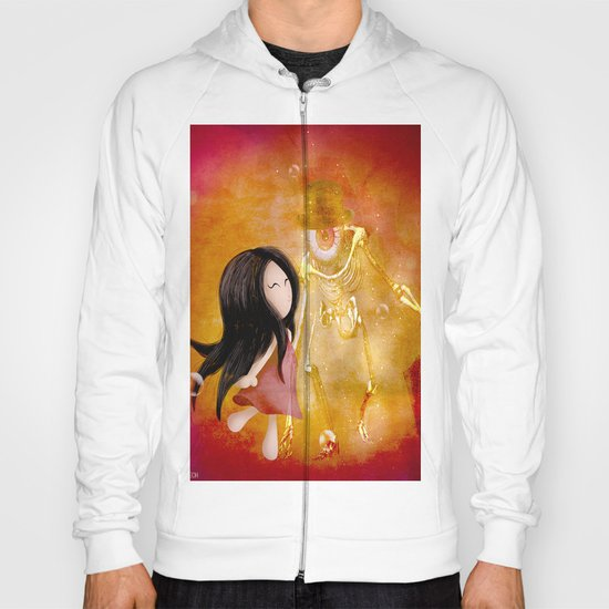 Amis pour la vie  !   Zoey  and Monsieur Bone ( artwork realize by Lou jah and Joe Ganech ) Hoody