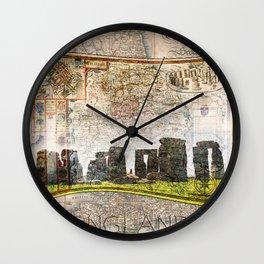 Stonehenge Art Map Wall Clock