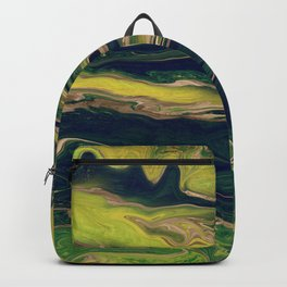 Malachite Green Liquid Marble  Backpack