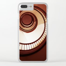 Brown spiral staircase Clear iPhone Case