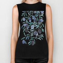 black olive watercolor 2018 Biker Tank