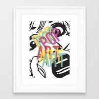 popart Framed Art Prints featuring PopArt V by Ingunn Ro