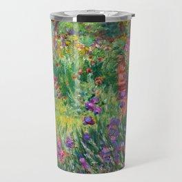 Claude Monet - The Iris Garden At Giverny Travel Mug