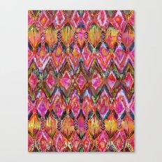 Ikat #32 Orange Canvas Print