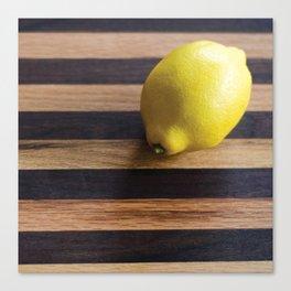 Just a Lemon Canvas Print