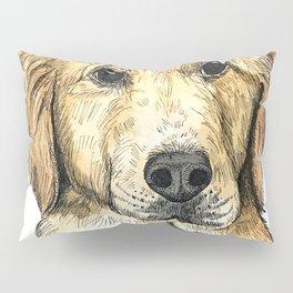 Yellow Lab Puppy Drawing Pillow Sham