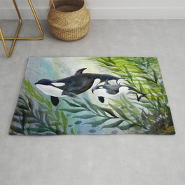 Mother Orca Rug