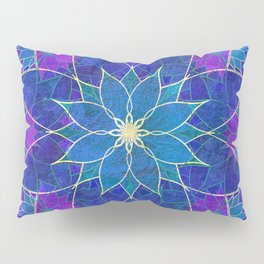 Lotus 2 - blue and purple Pillow Sham