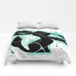 Glaceon Splash Silhouette Comforters