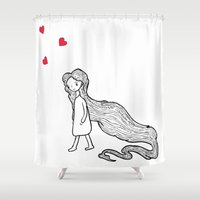 rapunzel Shower Curtains featuring Rapunzel by Irene Florentina