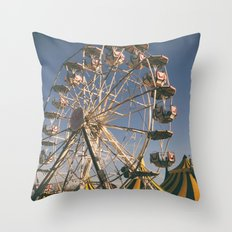 Wheel Ferris Throw Pillow