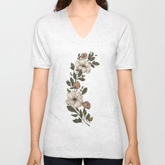 Floral Laurel Unisex V-Neck