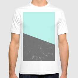 Marble Geometric Bright Mint Gray #5 #decor #art #society6 T-shirt