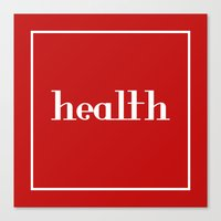health Canvas Prints featuring Health by davzoku