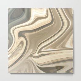 Marble C Metal Print