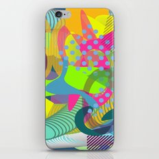 Colorful vibes iPhone Skin