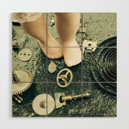 Alice's Escapades ~ Alice Lost In Time Wood Wall Art
