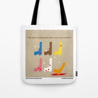 reservoir dogs Tote Bags featuring No069 My Reservoir Dogs minimal movie poster by Chungkong