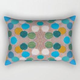 Ochre Tangential Coterie Rectangular Pillow