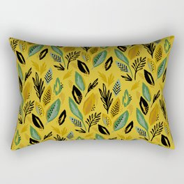 Celadon Leaves Rectangular Pillow