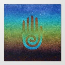 Spiral Hand Rainbow Grunge Canvas Print