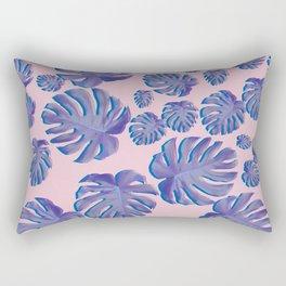 Monstera pink Rectangular Pillow