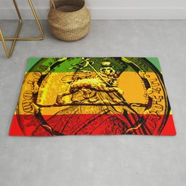 Lion of Judah Haile Selassie King of Kings Rug