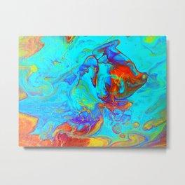 Underwater World Pour Metal Print