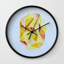 cuarzo amarillo grande Wall Clock