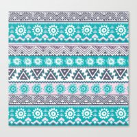 tribal Canvas Prints featuring Tribal by Julscela