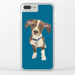Cute Terrier Mix Clear iPhone Case
