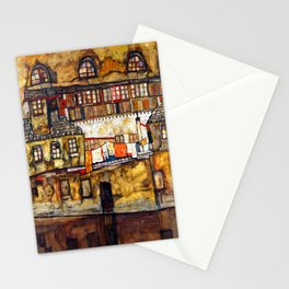 Egon Schiele House Wall on the River Stationery Cards