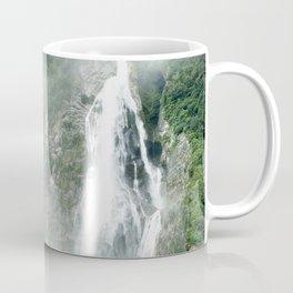 The Waterfalls at Milford Sound, New Zealand 01 Coffee Mug