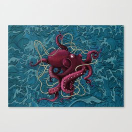 Octopus colored Canvas Print