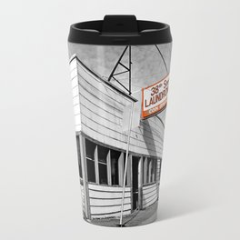 Corner laundromat Travel Mug