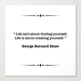 George Bernard Shaw Quote Canvas Print