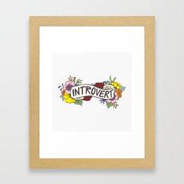 Floral Introvert Banner Framed Art Print