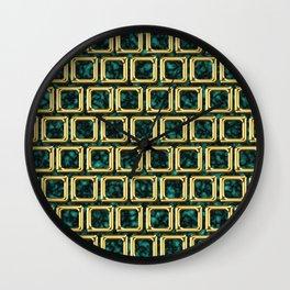 Golden frames pattern Wall Clock